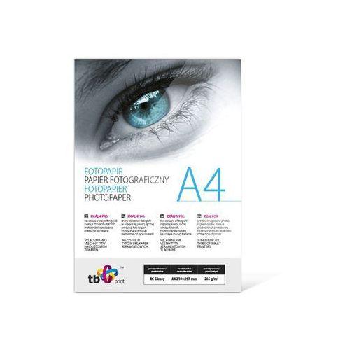Papier fotograficzny a4 265g/m2 - błyszczący + gratis marki Tb print