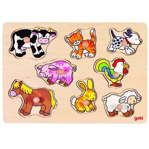 Układanka z uchwytami zwierzęta wiejskie marki Goki