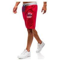 Krótkie spodenki dresowe męskie czerwone denley ex06 marki Extreme