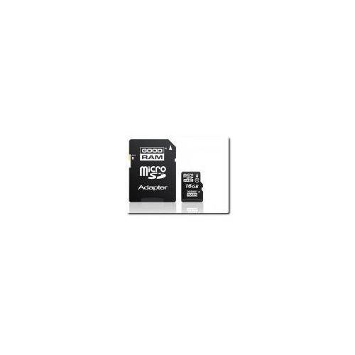 Mikro-karta pamięci/zapisu flash sd/hc 16gb + adapter sd. od producenta Goodram