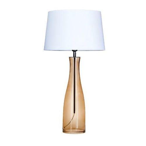 4 concepts Lampa stołowa amsterdam taupe z białym kloszem, l211175228