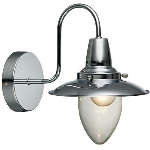 Markslojd Kinkiet lampa ścienna stromstad 105249 industrialna oprawa chrom przezroczysty