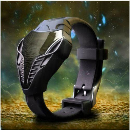 Nowoczesny zegarek o innowacyjnym dizajnie - czarny - czarny marki E-webmarket