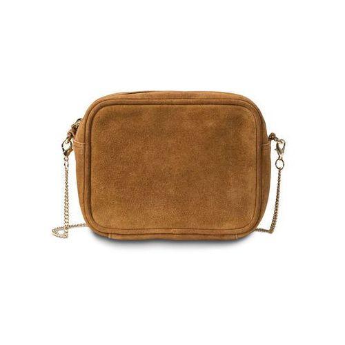 Bonprix Mała torebka skórzana na ramię koniakowy