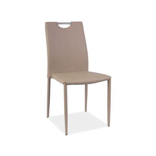 Nowoczesne krzesło h-322 ciemny beż marki Signal