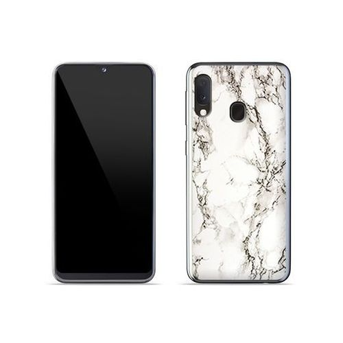 Samsung galaxy a20e - etui na telefon fantastic case - biały marmur marki Etuo fantastic case