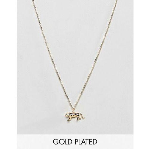 Orelia tiger ditsy necklace - gold