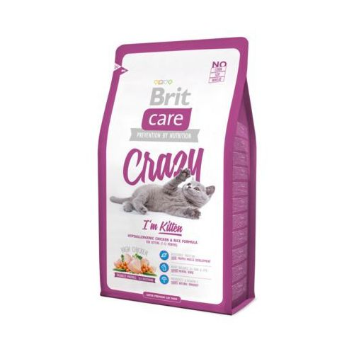 care cat new crazy i'm kitten chicken & rice 7kg marki Brit