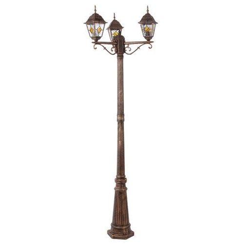Rabalux Lampa stojąca ogrodowa monaco 3x60w e27 ip43 antyczne złoto 8186 (5998250381862)