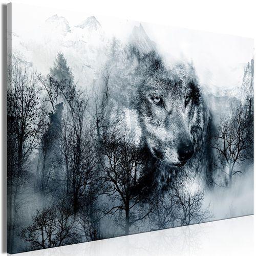 Artgeist Obraz - drapieżnik z gór (1-częściowy) szeroki czarno-biały