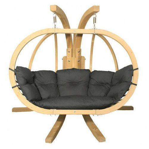 Grafitowy fotel podwieszany na taras - Parys 3X