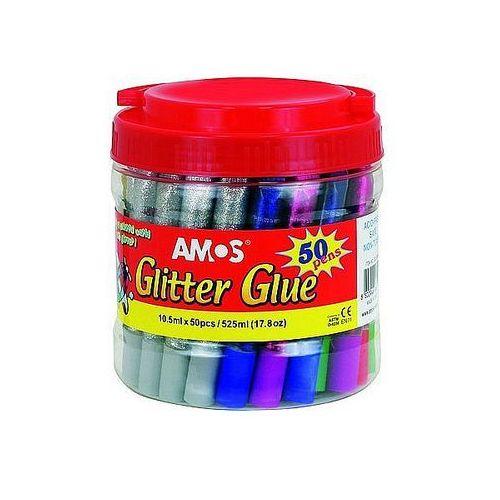 Klej z brokatem 10,5ml x 50 kolorów marki Amos