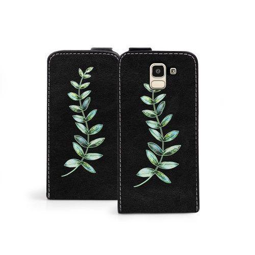 Samsung galaxy j6 - etui na telefon flip fantastic - zielona gałązka marki Etuo flip fantastic