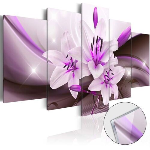 Artgeist Obraz na szkle akrylowym - fioletowa lilia pustynna [glass]