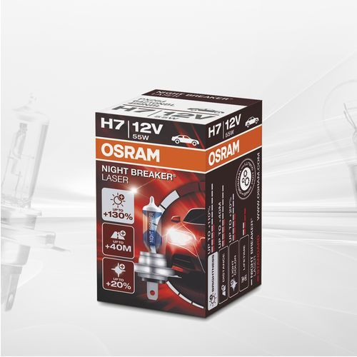 Osram Żarówka h7 12v night breaker laser +130% / box