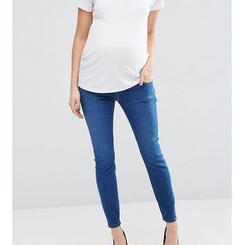 ASOS Maternity Ridley Skinny Jean In Bailie Wash with Under The Bump Waistband - Blue