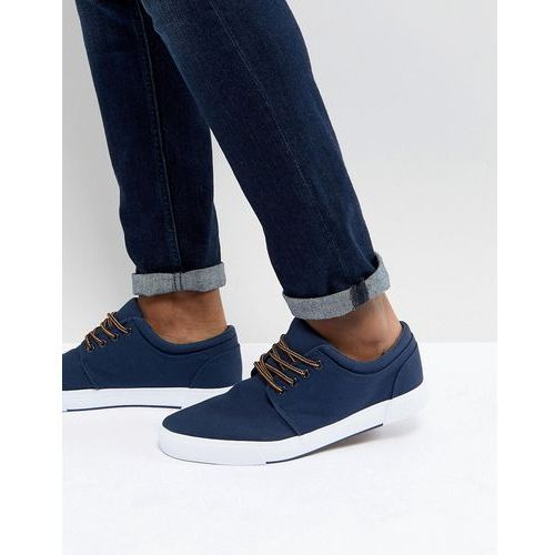 plimsolls in navy - navy, Pier one