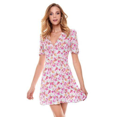 Sukienka cannes błękitna w kwiaty, Sugarfree, 34-40