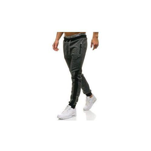 Spodnie męskie dresowe joggery czarne denley w1205 marki Red fireball