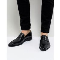 cross hatch loafers in black leather - black, Dune