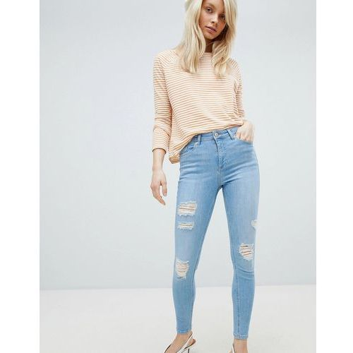 Miss selfridge distressed lizzie jeans - blue