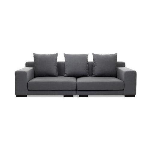Sofa ciemnoszara - kanapa - 2 osobowa sofa tapicerowana - CLOUD - produkt z kategorii- Sofy