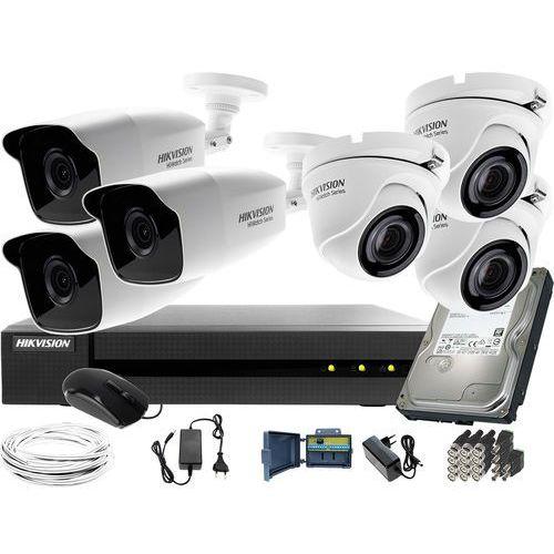 3 kamery HWT-B240-M 3xHWT-T140-M zestaw monitoringu Hikvision Hiwatch HWD-6108MH-G2 dysk twardy 1TB Akcesoria