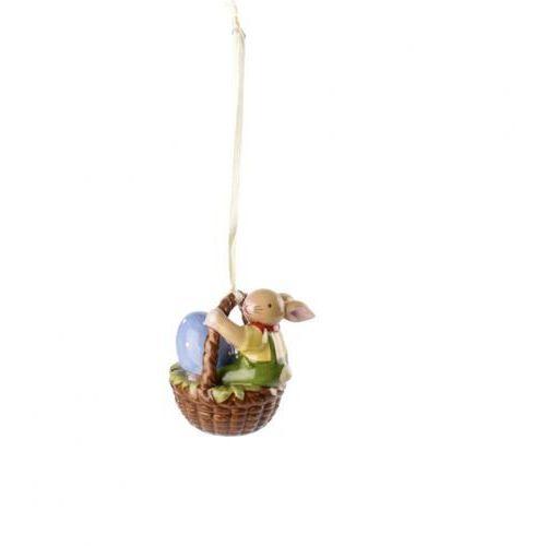 Villeroy & Boch - Bunny Family Zawieszka porcelanowa zając w koszyku wysokość: 6 cm (4003686325623)