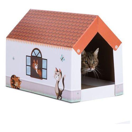 Domek dla kota XL Home z matą do drapania - Dł. x szer. x wys.: 58 x 36 x 41 cm