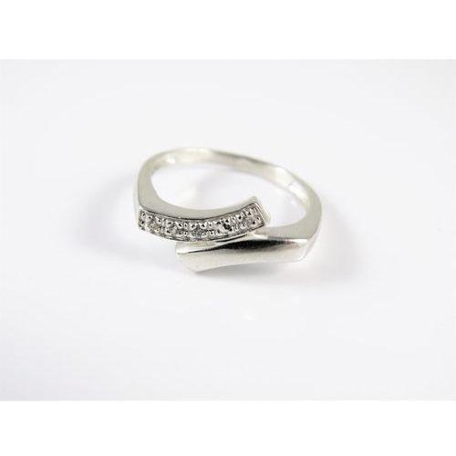 Srebrny pierścionek 925 BIAŁE OCZKA r. 17, kolor szary