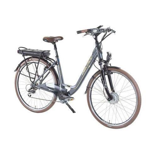"""Devron Miejski rower elektryczny 28126, srebrny, 19"""""""