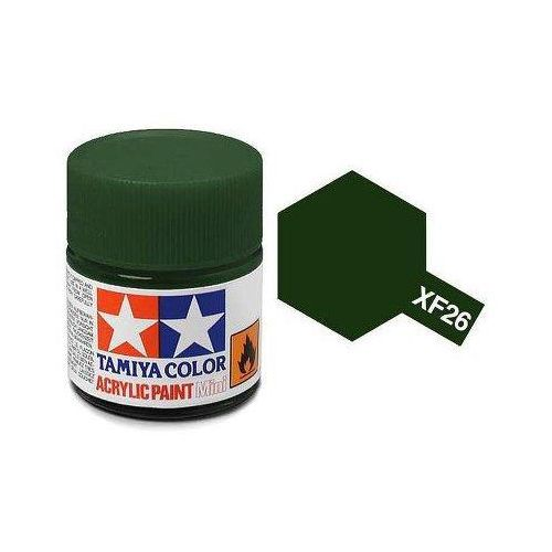 Tamiya Farba akrylowa - xf26 deep green matt / 10ml 81726 (45035739)