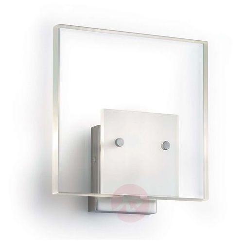 Satynowana lampa ścienna glass matowy nikiel marki Knapstein