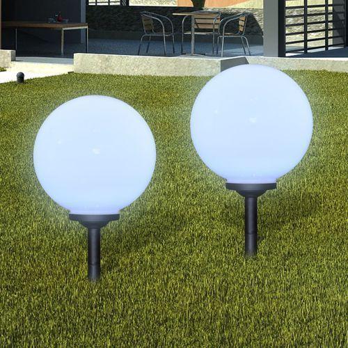 Vidaxl zewnętrzne lampy solarne led w kształcie kuli, 30 cm, 2 szt. (8718475861355)
