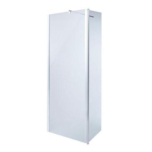 Kabina prysznicowa walk-in Cooke&Lewis Onega 80 + 45 cm chrom/transparentny