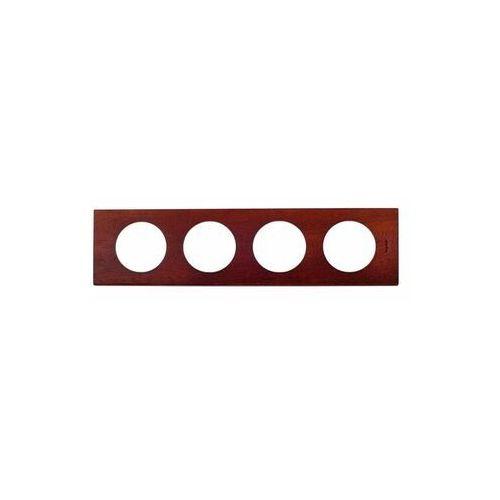 Ramka poczwórna Legrand Celiane 069224 drewno mahoń (3245060692247)