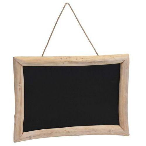 Home styling collection Tablica na notatki, czarna, 70x50 cm - drewno tekowe