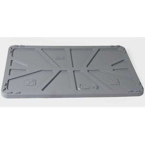 Pokrywa z polietylenu, do dł. x szer. 1040x640 mm, szary. marki Capp-plast