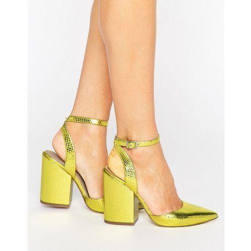 Asos pick n mix pointed heels - yellow