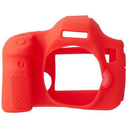 Easycover osłona gumowa dla canon 6d czerwona