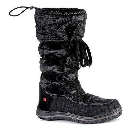 OKAZJA - Czarne śniegowce z membraną wodoodporne Hasby - czarny z kategorii Kozaczki dla dzieci