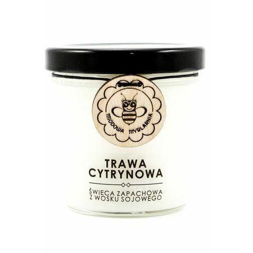 trawa cytrynowa świeca zapachowa z wosku sojowego marki Miodowa mydlarnia