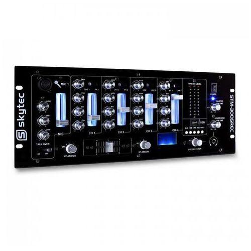 Stm-3005rec 4-kanałowy mikser dla djów usb mp3 rec eq marki Skytec