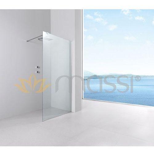 Massi Massi ścianka walk-in 100x195, szkło transparentne + powłoka easyclean mskp-fa1021-100 100 x 195 (MSKP-FA1021-100)