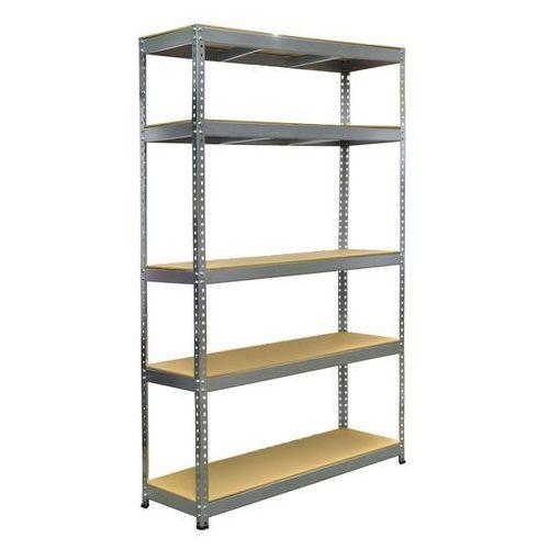 Metalkas Regał metalowy stabil 120 x 40 x 180 cm 5 półek 200 kg ocynk
