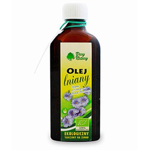Dary natury - inne bio Olej lniany bio 100 ml - dary natury (5902741002495)
