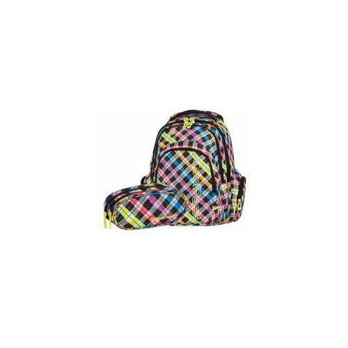 Zestaw plecak młodzieżowy+saszetka dwukomorowa - kol. kratka marki Patio