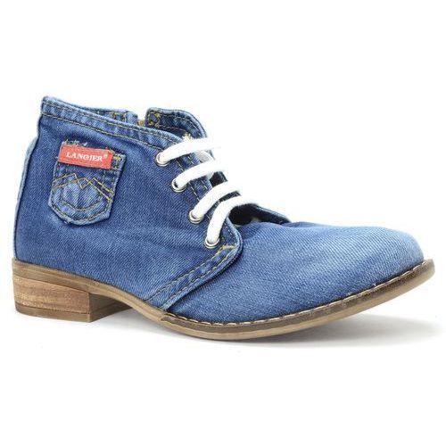 Botki 42c224 jeans marki Lanqier