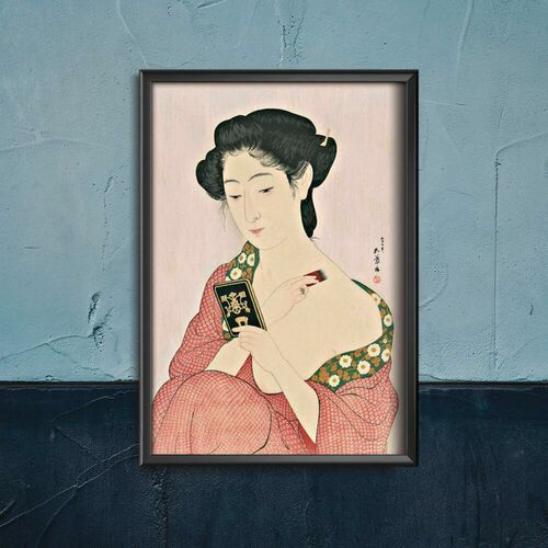 Vintageposteria.pl Plakat w stylu vintage plakat w stylu vintage kobieta nakładająca puder