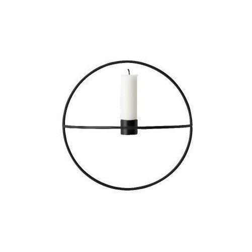 Świecznik POV Circle ścienny na świeczkę, S, czarny - Menu (5709262000739)